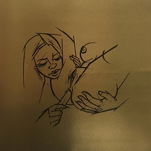 """Butt Stuff"" Metallic Canvas Print"