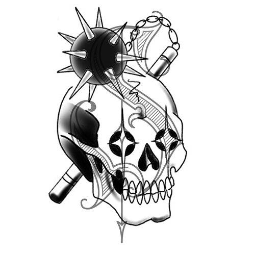 Skull and Mace