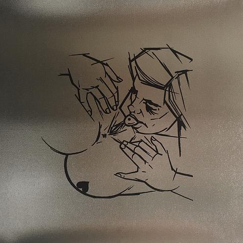 """Heart Bum"" Metallic Canvas Print"