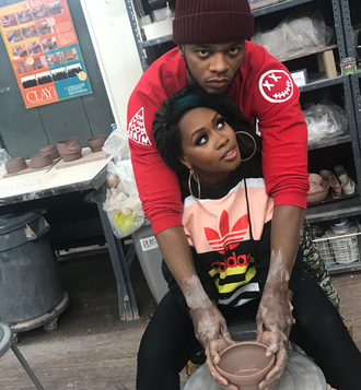 Could Remy Ma and Papoose Be Baking More than Pottery? We Think So! [PHOTO]