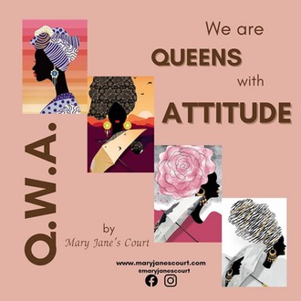 """#SmallBusinessSpotlight Queens with Attitude from """"Mary Jane's Court""""!"""
