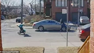 Priorities All Messed Up! Woman Leaves Her Baby in a Stroller IN THE STREET to Harass Horrible Drive