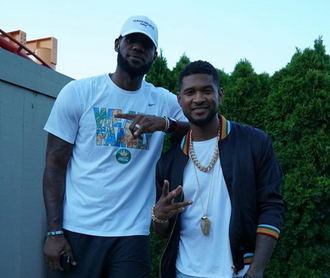 Usher Performs for Lebron James in Ohio!