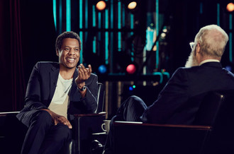 Jay-Z Takes the Stage with David Letterman to Talk Life, Scandal and Kanye. [WATCH]