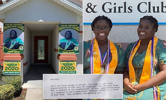 "Florida Parents Told to Move to a ""Hood of Your Kind"" After Posting Congratulations Banner"