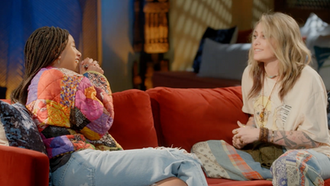"""Paris Jackson Sits Down with Willow Smith for a Candid One-On-One Episode of """"Red Table Talk""""."""
