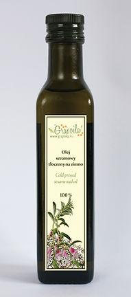 olej sezamowy, z nasion sezamu, nierafinowany tłoczony na zimno Grapoila