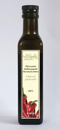 olej z nasion papryki nierafinowany tłoczony na zimno Grapoila