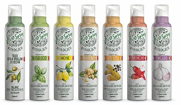 Mantova Vivo Spray, ekologiczne bio oliwa z oliwek, aromatyzowana, w spray