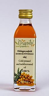 olej z nasion rokitnika, olej z pestek rokitnika, nierafinowany tłoczony na zimno Grapoila