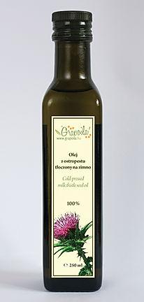 olej z nasion ostropestu, nierafinowany tłoczony na zimno Grapoila