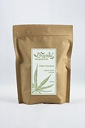 Bezglutenowa mąka konopna, wysoką zawartością białka i błonnika