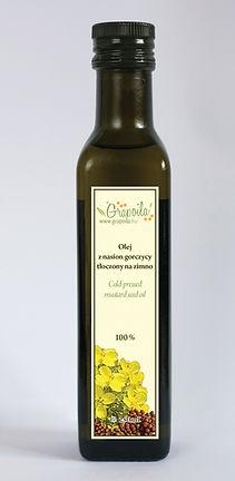 olej z nasion gorczycy, olej musztardowy, nierafinowany tłoczony na zimno Grapoila