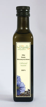 olej lniany, nierafinowany tłoczony na zimno Grapoila