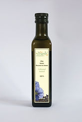 olej lniany nierafinowany tłoczony na zimno