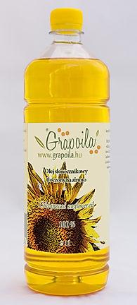 olej słonecznikowy nierafinowany tłoczony na zimno Grapoila, PET