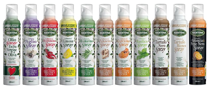 Mantova Sprayleggero Oliwa z oliwek extra virgin w spray'u - 11 smaków, aromatyzowana oliwa