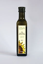 olej słonecznikowy nierafinowany tłoczony na zimno
