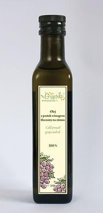 olej z pestek winogron nierafinowany tłoczony na zimno Grapoila