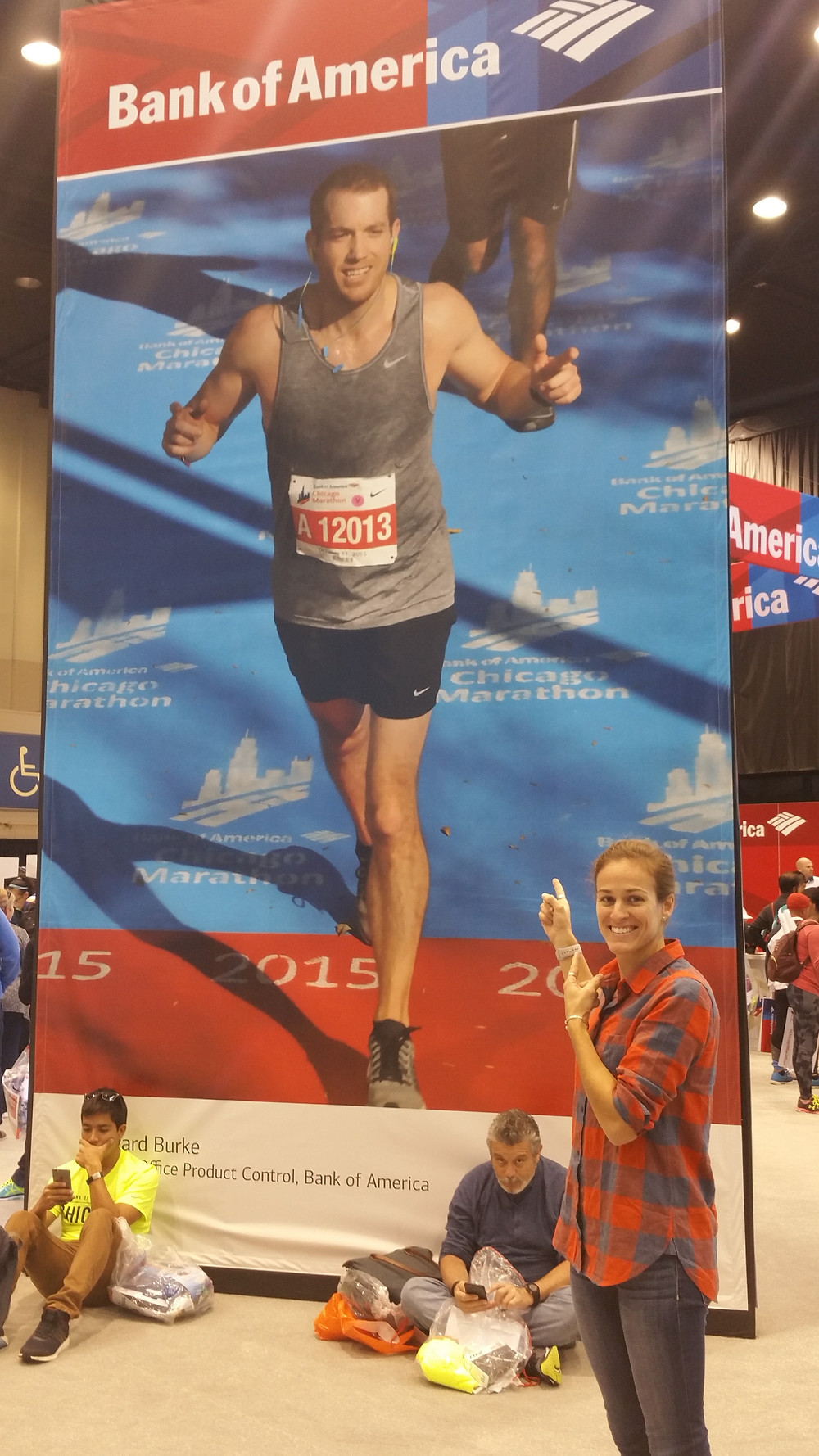 EJ at the Chicago Marathon in