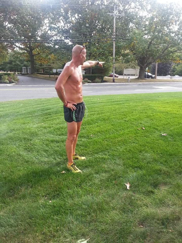 Discussing the hill repeat workout on a 4 minute hill I just concluded approaching my 50th year at the time