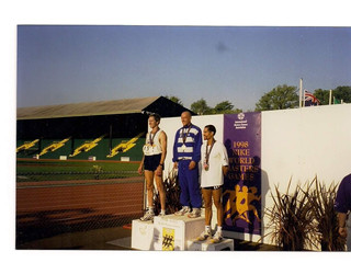 '1998 Nike World Masters Games'..my top of the mountain on my idol 'Pre's track !