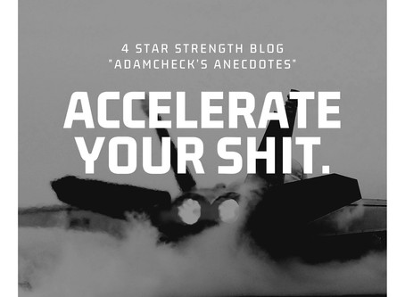 Accelerate your shit!