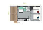 plan Mobil-home Soleil
