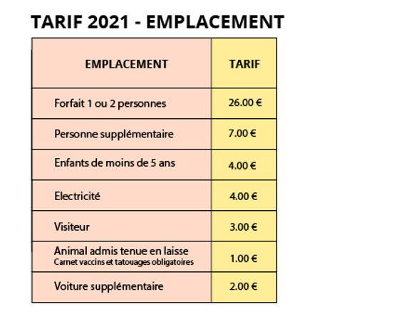 Tarif loc 2021_TARIF 2021 – EMPLACEMENT-