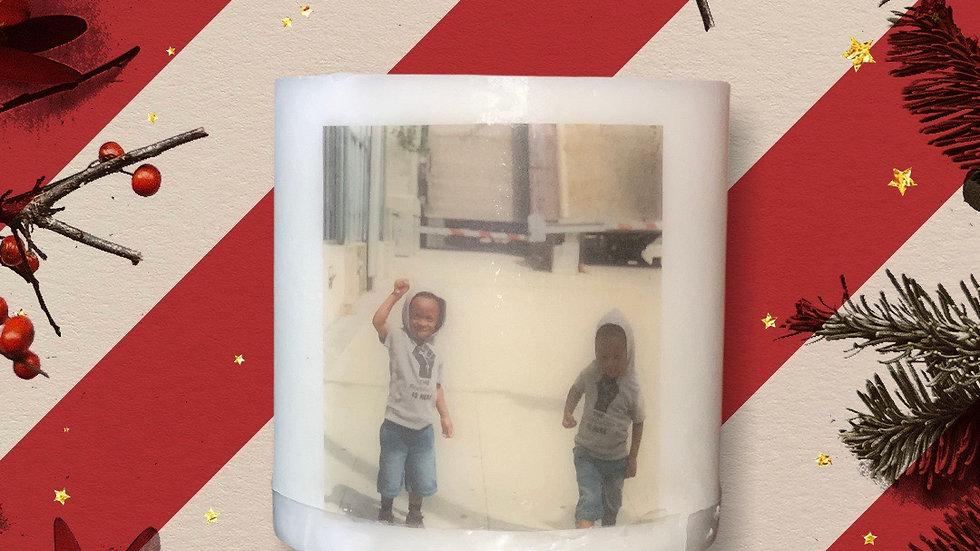 Customized Photo Candle