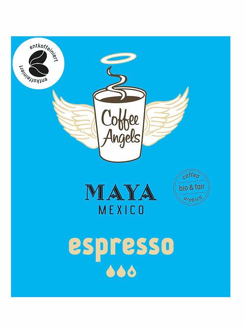 CoffeeAngels Bio-Espresso aus 100% Arabica (entkoffeiniert)