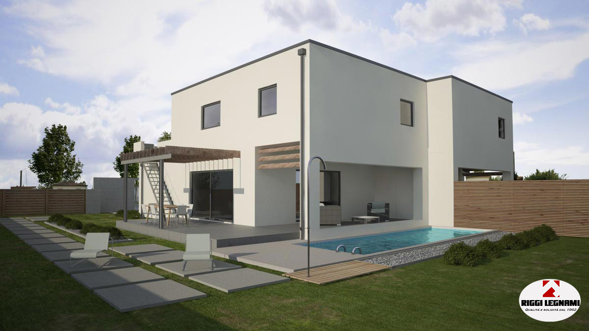 Casa Di Legno Moderna Villetta In Legno Bio Edilizia