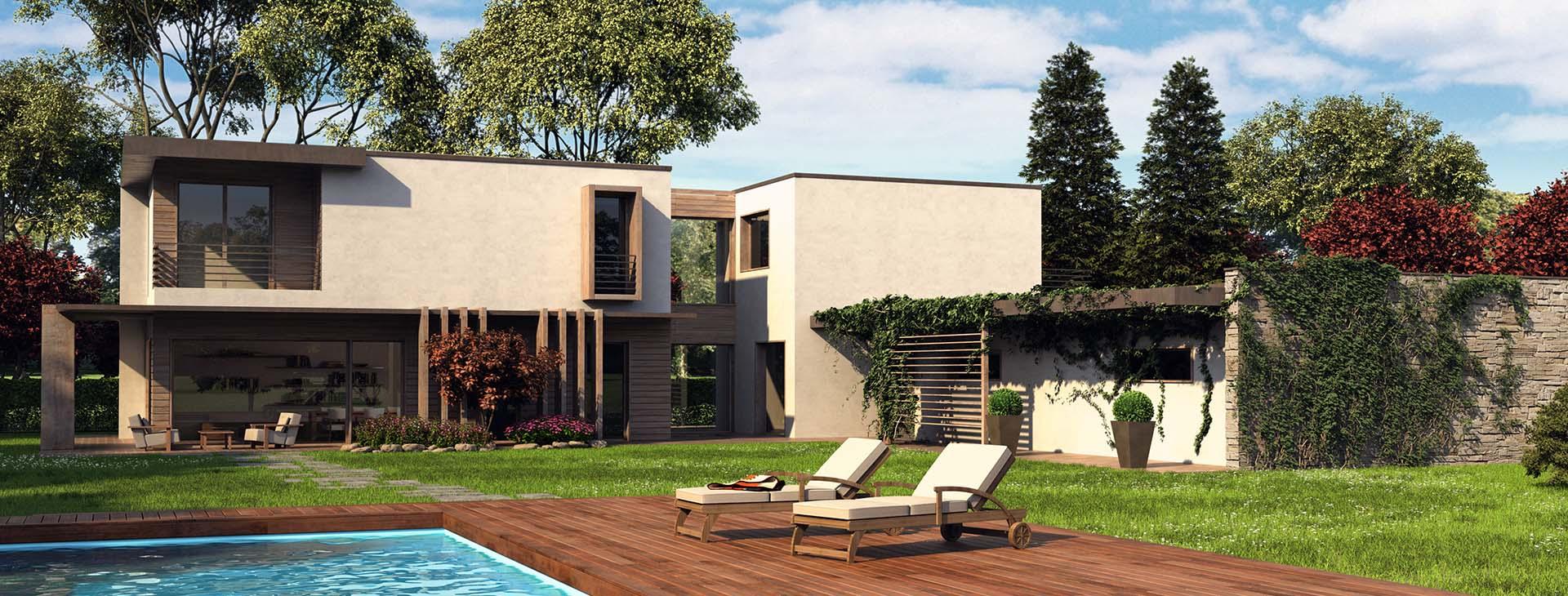 Casa moderna con portico foto di casa moderna con esterna for Portico moderno