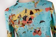 Wild-Life-Map Shirt mit langen Ärmeln