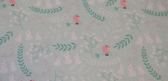 TN růžoví ptáčci na zelené