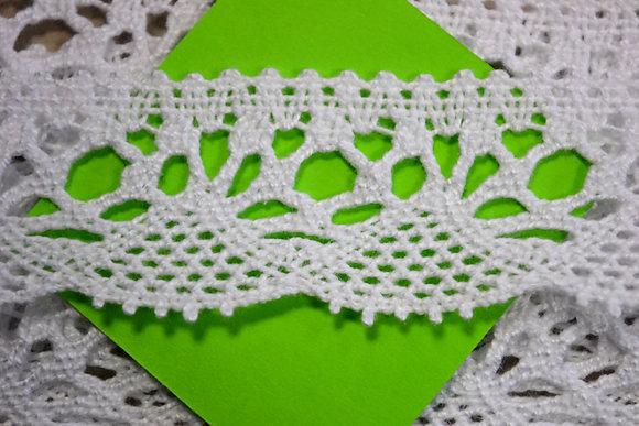 krajka bavlněná paličkovaná š.30mm bílá