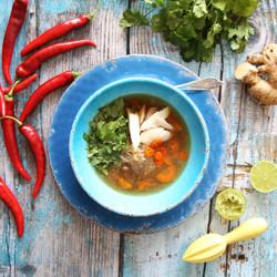 PHO sopa vietnamita de pollo