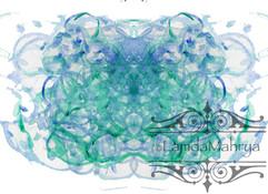 BlueGreen Watercolor Blot