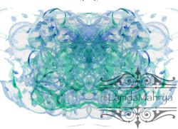 BlueGreen Ink Blot