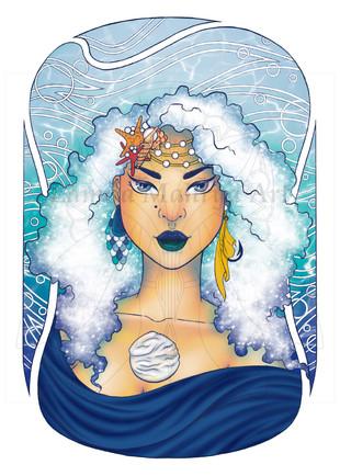 Ocean Pearl Digital Painting