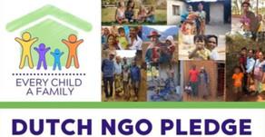 Tijdens Partin Wildeganzendag 2019 ondertekenden 11 NGO's de Every Child a Family pledge