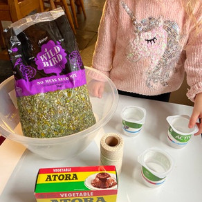 How to make an easy bird feeder with children