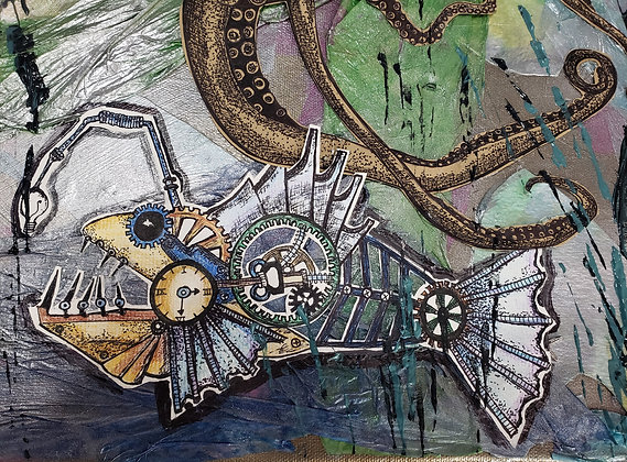 Steampunk Abyss #2 Mixed Media Print
