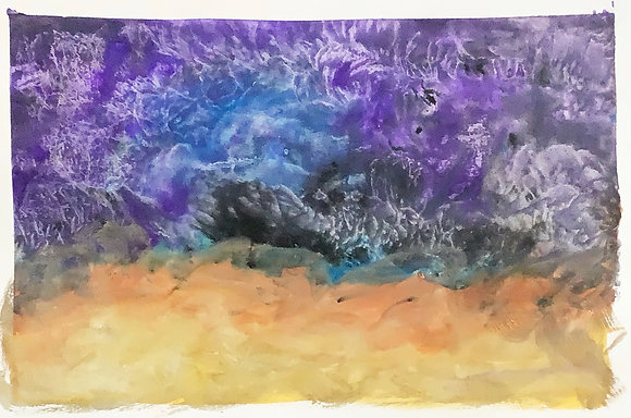 After the Storm, watercolor painting