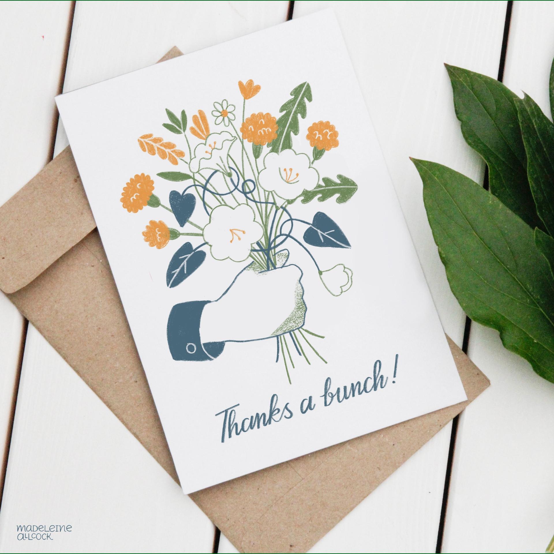 Weeds Thank You Card