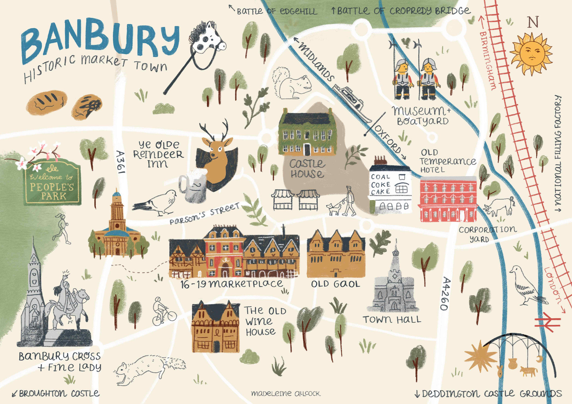 Banbury History Map