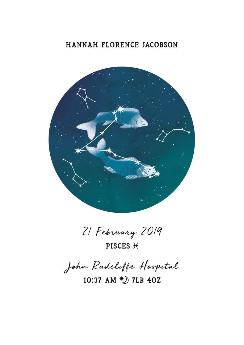 New Baby Zodiac Print