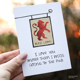 Funny Lockdown Pub Valentine's Card
