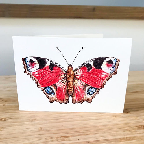 MA Peacock Butterfly Card