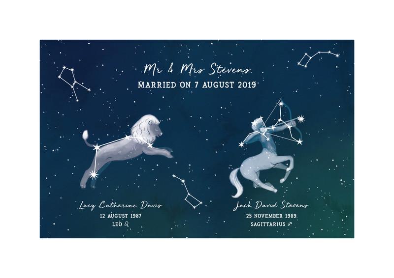 Wedding Zodiac Print